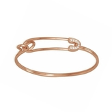 Sydney Evan Rose Gold & Diamond Safety Pin Bracelet