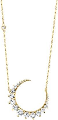 Shay Large Diamond Crescent Moon Pendant Necklace