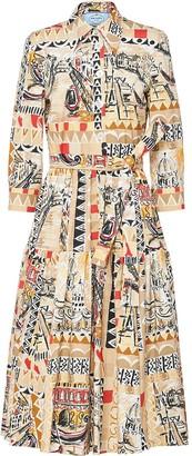 Prada Venice-print shirt dress
