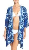 LaBlanca Women's La Blanca 'Moody Blues' Tie-Dye Cover-Up Kimono