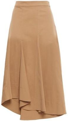 Brunello Cucinelli Asymmetric Cotton-blend Twill Skirt