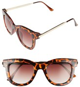 A. J. Morgan Women's A.j. Morgan 'Lily' 50Mm Retro Sunglasses - Tortoise