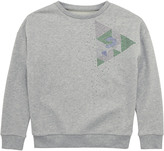 GUESS Mottled grey fleece sweatshirt