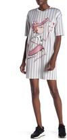 Love Moschino Mascot Print Striped T-Shirt Dress