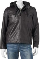 Apt. 9 Men's Classic-Fit Faux-Leather Military Jacket