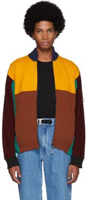 Kenzo Multicolor Wool Colorblock Zip Jacket