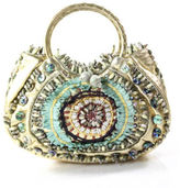 Jamin Puech Multi-Colored Leather Embellished Beaded Knit Embroidered Handbag