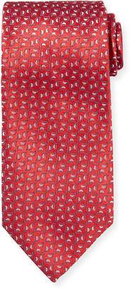 Charvet Men's Neat Pattern Silk Tie