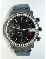 Gucci Ya101331 Pvd 3.5Ct White Diamonds Mens Watch