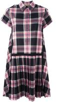 No.21 checked shirt dress