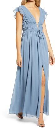 Lulus I'm All Yours Ruffle Maxi Dress