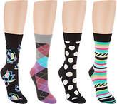 Happy Socks Multi-Pattern Crew Socks Set of 4Variety Pack