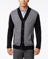 Alfani Men's Colorblocked Textured Cardigan, Only at Macy's