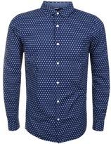 Michael Kors Finn Print Long Sleeve Shirt Navy