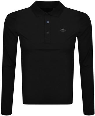 Replay Long Sleeved Evoflex Polo T Shirt Black