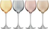 LSA International Polka Assorted Wine Glasses