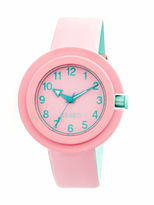 Crayo Womens Equinox Light Pink Strap Watch CRACR2808