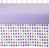 Bacati Crib Skirt - Botanical Purple