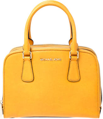 MICHAEL Michael Kors Mustard Leather Medium Reese Satchel