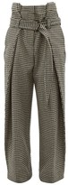Hillier Bartley Tailored Houndstooth Wool Trousers - Womens - Black Cream