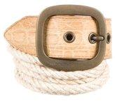 Dolce & Gabbana Crocodile Waist Belt