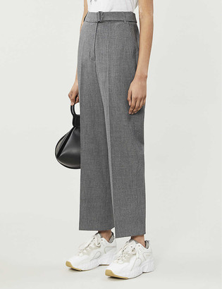Whistles Aliza woven check trousers