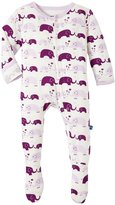 Kickee Pants Printed Footie (Baby) - Bubble Elphant - 0-3 Months