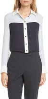 Judith & Charles Lia Silk Button-Up Blouse