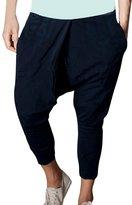 uxcell Allegra K Men Trendy Two Pockets Elastic Waist Baggy Harem Pants W