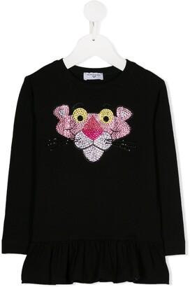 MonnaLisa Pink Panther embellished T-shirt