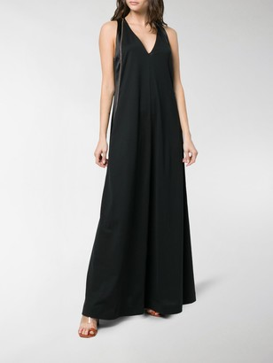 Brunello Cucinelli Contrast Side Maxi Dress