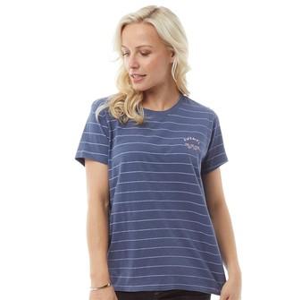 Animal Womens Tracker Graphic T-Shirt Vintage Indigo Blue