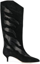 Couture Gia snakeskin effect detail boots