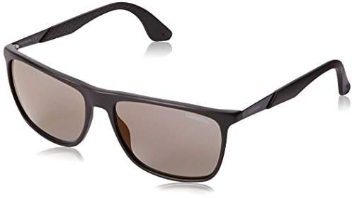 Carrera CA5018S Rectangular Sunglasses, Matte Brown