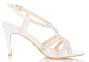 Dorothy Perkins Womens *Quiz Silver Heeled Sandals, Silver