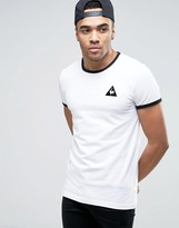 Le Coq Sportif Ringer T-Shirt In White Exclusive To ASOS 1611262