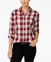 Charter Club Petite Plaid Shirt, Only at Macy's