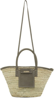 Jacquemus Beige and Grey Le Panier Soleil Tote