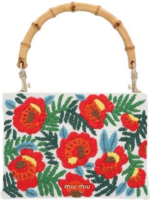 Miu Miu Floral Embroidered Handbag