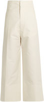Jacquemus High-rise wide-leg cotton cropped trousers
