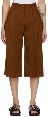 Sacai Brown Wool Tuxedo Trousers