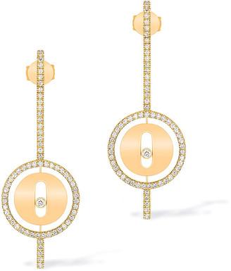 Messika Lucky Move 18k Arrow Diamond Earrings