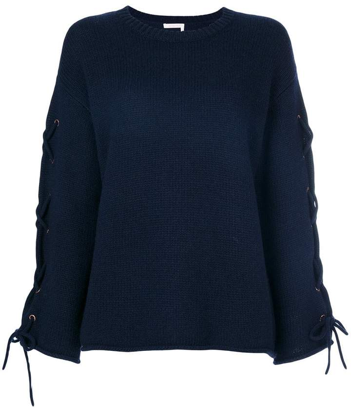 See by Chloe laced sleeve sweater