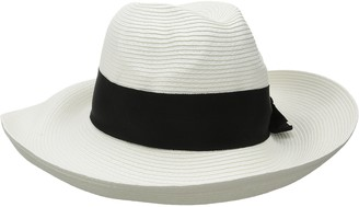 Physician Endorsed Women's Adriana Toyo Straw Packable Hat with Rated UPF 50+