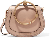 Chloé Nile Small Textured-leather Shoulder Bag - Beige