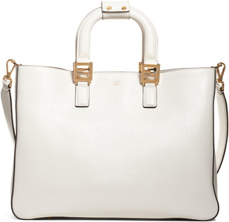 Fendi Medium Glacier Top Handle Leather Tote