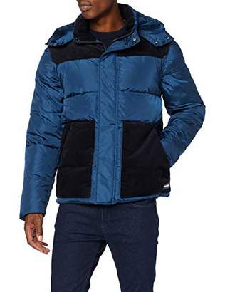 Scotch & Soda Men's Quilted Jacket with Contrast Yoke,XX-Large