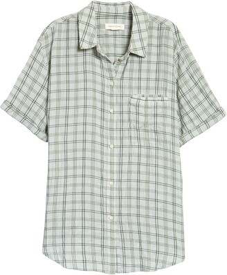 Treasure & Bond Check Short Sleeve Shirt
