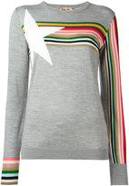 No.21 striped detail jumper - women - Silk/Viscose/Wool - 48