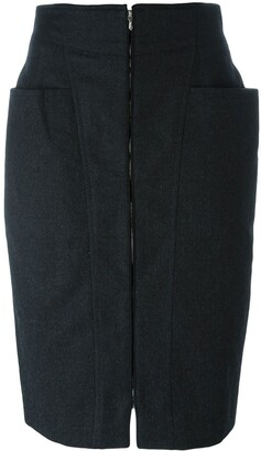 Gianfranco Ferre Pre-Owned zipped skirt